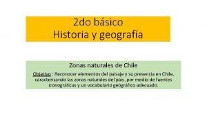 2 do bsico Historia y geografa Zonas naturales