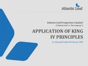 Atlantic Leaf Properties Limited Atlantic Leaf or the