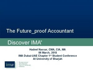 The Futureproof Accountant Your career Your story Hadeel