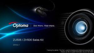 ZU 506 ZH 506 Sales Kit 2019 Q