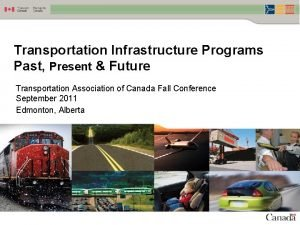 Transportation Infrastructure Programs Past Present Future Transportation Association