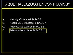 QU HALLAZGOS ENCONTRAMOS Hospital Fundacin Jimnez Daz A