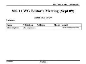 doc IEEE 802 11 091035 r 1 802