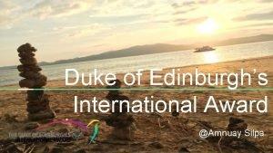 Duke of Edinburghs International Award Amnuay Silpa Meeting