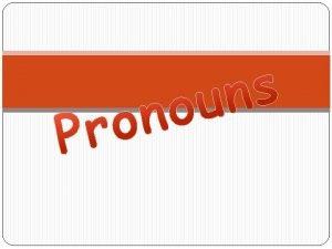 What is a pronoun A Pronoun is a