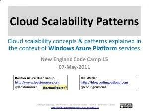 Cloud Scalability Patterns Cloud scalability concepts patterns explained
