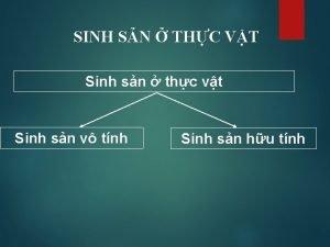 SINH SN THC VT Sinh sn thc vt