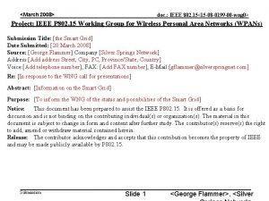 March 2008 doc IEEE 802 1515 08 0199