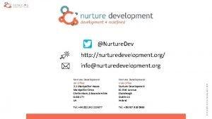 Nurture Dev http nurturedevelopment org Nurture Development UK