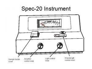 Spec20 Instrument Sample holder cover Amplifier control knob