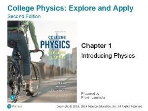 College Physics Explore and Apply Second Edition Chapter