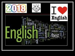 Why is ENGLISH important WRITING ENGLISH READING SPEAKING