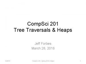 Comp Sci 201 Tree Traversals Heaps Jeff Forbes