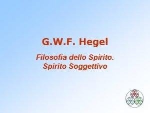 G W F Hegel Filosofia dello Spirito Soggettivo