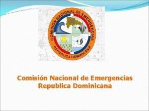 Comisin Nacional de Emergencias Republica Dominicana Reunin Plataforma