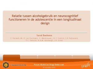 Relatie tussen alcoholgebruik en neurocognitief functioneren in de