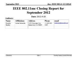 September 2012 doc IEEE 802 11 121182 r