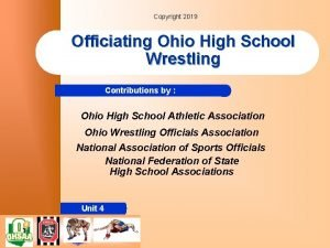 Copyright 2019 Officiating Ohio High School Wrestling Contributions