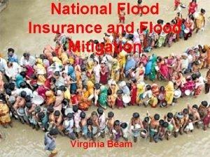 National Flood Insurance and Flood Mitigation Virginia Beam