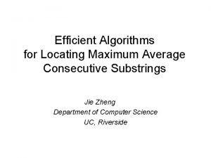Efficient Algorithms for Locating Maximum Average Consecutive Substrings