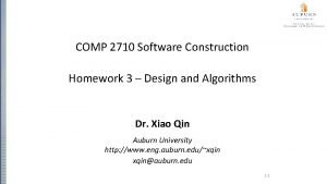 COMP 2710 Software Construction Homework 3 Design and