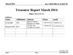 March 2014 doc IEEE 802 11 14 0317