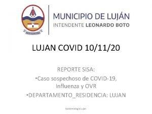 LUJAN COVID 101120 REPORTE SISA Caso sospechoso de