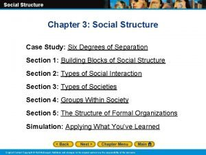 Social Structure Chapter 3 Social Structure Case Study