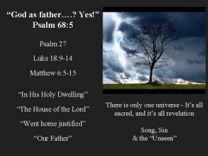 God as father Yes Psalm 68 5 Psalm