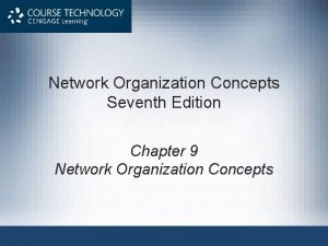Network Organization Concepts Seventh Edition Chapter 9 Network