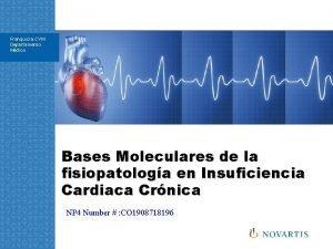 Franquicia CVM Departamento Mdico Bases Moleculares de la