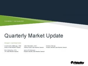 Commentary First Quarter 2021 Quarterly Market Update PRIMARY