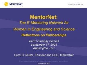 www Mentor Net net Mentor Net The EMentoring