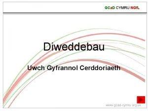 GCa D CYMRU NGf L Diweddebau Uwch Gyfrannol