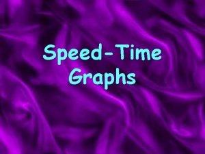 SpeedTime Graphs Interpreting Velocitytime graphs the gradient of