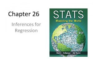 Chapter 26 Inferences for Regression An Example Body