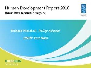 Human Development Report 2016 Human Development for Every