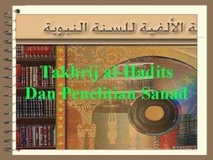 Takhrij alHadits Dan Penelitian Sanad Tahrij AlHadits Makna
