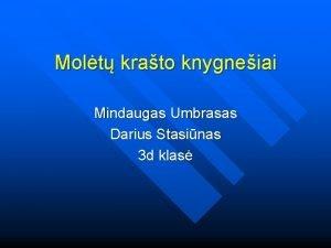 Molt krato knygneiai Mindaugas Umbrasas Darius Stasinas 3