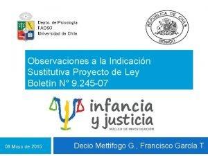 Depto de Psicologa FACSO Universidad de Chile Observaciones