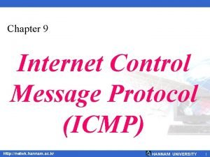 Chapter 9 Internet Control Message Protocol ICMP Http
