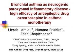 Bronchial asthma as neurogenic paroxysmal inflammatory disease high