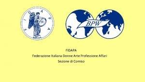 FIDAPA Federazione Italiana Donne Arte Professione Affari Sezione