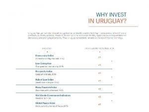 Why invest in Agribusiness in Uruguay Uruguay grew