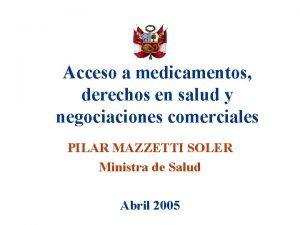 Acceso a medicamentos derechos en salud y negociaciones
