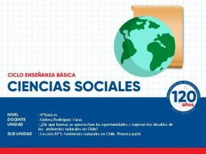 NIVEL DOCENTE UNIDAD SUB UNIDAD 6bsicos Isidora Rodrguez