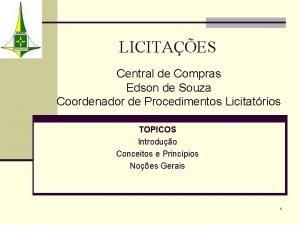 LICITAES Central de Compras Edson de Souza Coordenador
