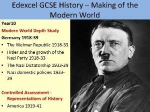 Edexcel GCSE History Making of the Modern World