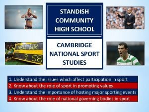 STANDISH COMMUNITY HIGH SCHOOL CAMBRIDGE NATIONAL SPORT STUDIES