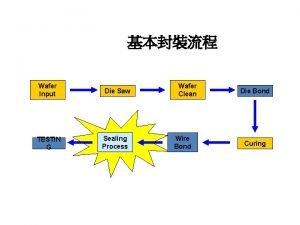 Wafer Input TESTIN G Die Saw Sealing Process